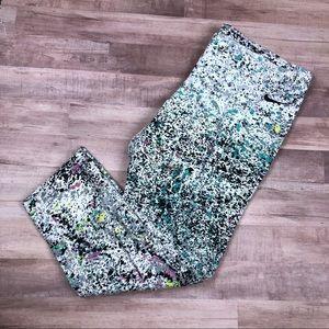 Nike Cropped Paint Splatter Leggings